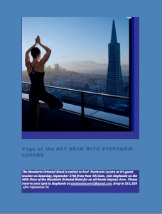 Yoga on the Sky Deck